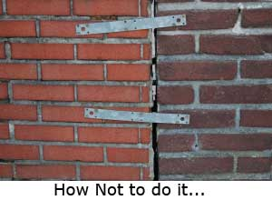 How to brick up a door